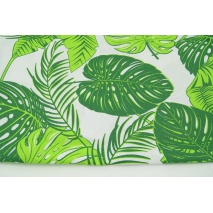Bawełna 100% tropikalne liście na białym tle