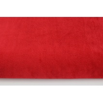Plain red fleece minky