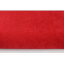 Plain red fleece minky