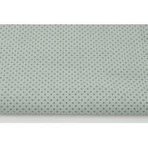 Cotton 100% mini dark gray dots on a light gray background