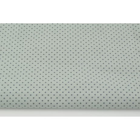 Cotton 100% mini dark gray dots on a light gray background