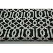 Bawełna 100% imperial trellis na czarnym tle II jakość
