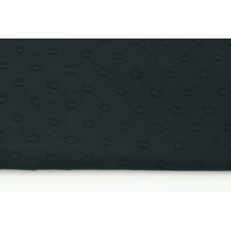 Cotton 100%, plumeti with dots, black