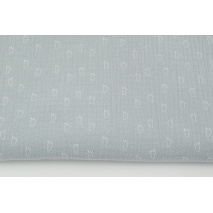 Double gauze 100% cotton little white feet on a light gray background
