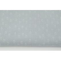 Double gauze 100% cotton little white feet on a light gray background