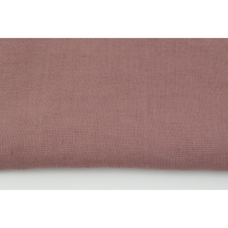 100% plain linen in a marsala pink color, softened