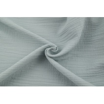 Double gauze 100% cotton plain light gray