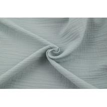 Double gauze 100% cotton plain light gray