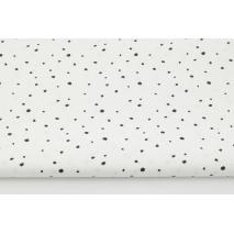 Cotton 100% mini black spots on a white background