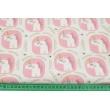 Bawełna 100% bajkowe jednorożce w różowych bańkach
