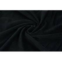 Velvet gładki czarny 220 g/m2