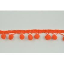Tasiemka z pomponami ciemny pomarańcz - podwójne nitki