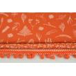 Dark orange ribbon 13mm pom poms (double threat)