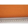 Bawełna kropki 1,5mm na pomarańczowym tle