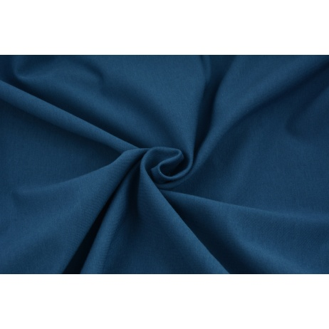 Looped knitwear plain dark blue