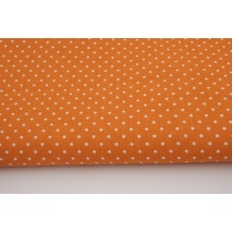 Cotton 100% dots 1,5mm on an orange background