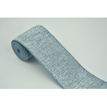 Rubber with lurex 40mm blue-gray with silver thread