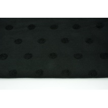Knitted fabric with fluffy dots, black