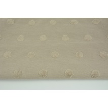 Knitted fabric with fluffy dots, beige