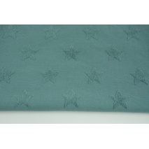 Knitted fabric with fluffy stars, dark azure