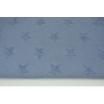 Knitted fabric with fluffy stars, blue
