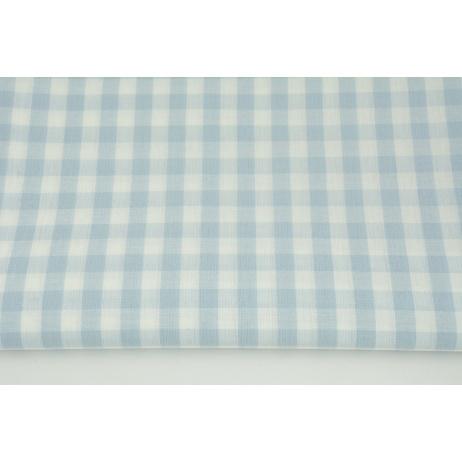 Bawełna 100% kratka vichy, dwustronna błękitna 1cm