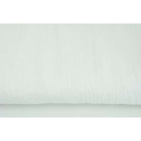 100% plain linen in a white color, softened S 145g/m2