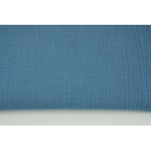 Muślin bawełniany, ciemny niebieski