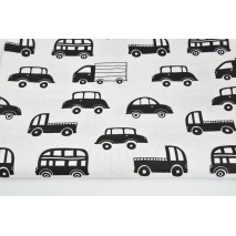 Cotton 100% black cars on a white background
