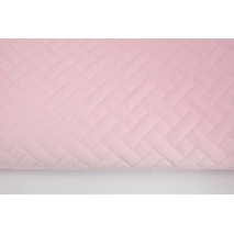 Quilted velvet light pink - herringbone