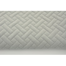 Quilted velvet ashen gray - herringbone