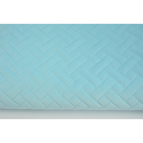 Quilted velvet light turquoise - herringbone
