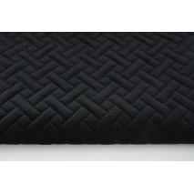 Quilted velvet black - herringbone