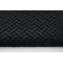 Velvet pikowany czarny - jodełka
