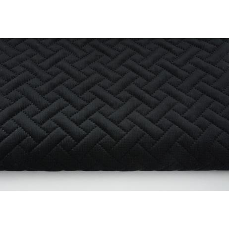Quilted velvet black - herringbone