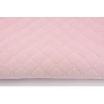 Quilted velvet light pink - diamonds with a circle