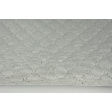 Quilted velvet ashen gray - diamonds with a circle