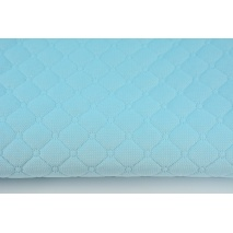 Quilted velvet light turquoise - diamonds with a circle