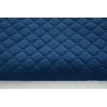 Quilted velvet navy - diamonds with a circle
