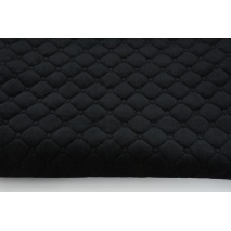 Quilted velvet black - diamonds with a circle