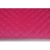 Quilted velvet fuchsia - diamonds with a circle