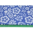 Cotton 100% XL lace on a cornflower background