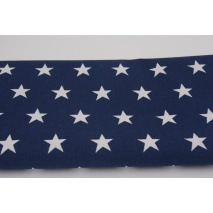 Cotton 100% stars 20mm on a navy blue background