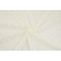 Soft tulle with dots, cream