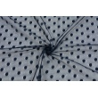 Soft tulle with dots, dark navy