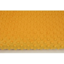 Dimple dot fleece minky in honey color