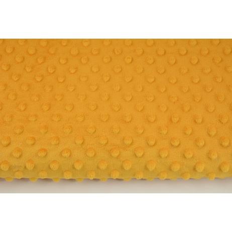 Dimple dot fleece minky in honey color