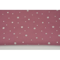 Cotton 100% silver stars on a dark heather background
