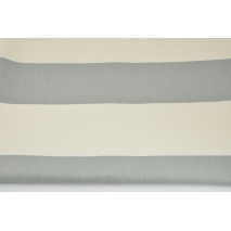 Home Decor, gray stripes 9.5 cm on a cream background 220g/m2