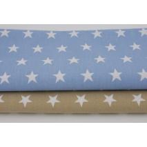 Bawełna 100% gwiazdki 2cm na niebieskim tle